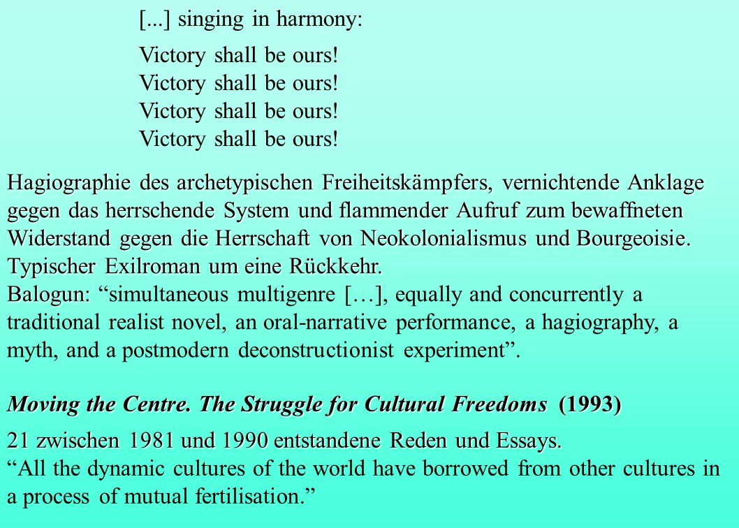 [...] singing in harmony: Victory shall be ours!